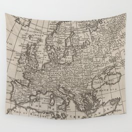 Vintage Map of Europe (1701) Wall Tapestry