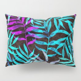 Watercolor Tropical Palm Leaves III Pillow Sham
