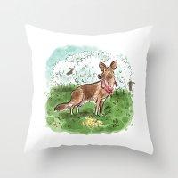 german shepherd Throw Pillows featuring German Shepherd by Renee Kurilla