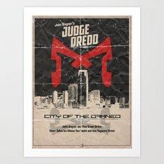 Dredd - City of the Damned Art Print