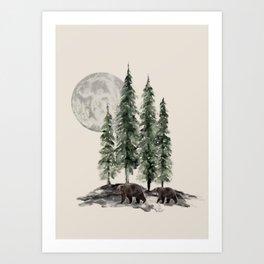 Full Moon Rising Kunstdrucke