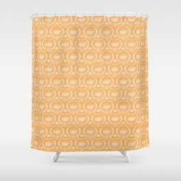 Queen Bee - Royal Crown in Honey Orange Shower Curtain