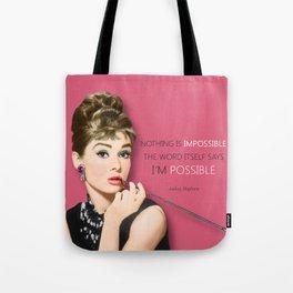 Movie star art - Audrey Hepburn Tote Bag