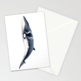 Baby Minke whale Stationery Cards