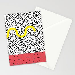 Memphis Style N°1 Stationery Cards