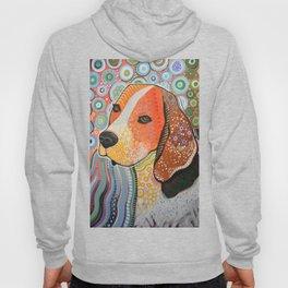 Rocky ... Abstract pet dog portrait art, Beagle Hoody