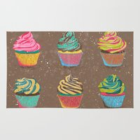 cupcakes Area & Throw Rugs featuring Cupcakes by Jean Balogh