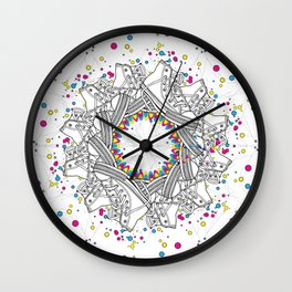 Mandala shoes Wall Clock