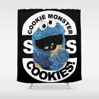 cookies Shower Curtains featuring COOKIES! by SwanniePhotoArt