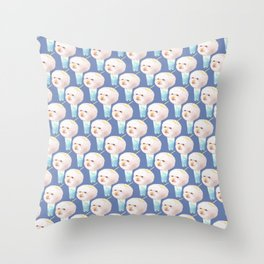Cotton Candy Drink Throw Pillow