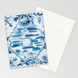 Azulejos Portugal, hand painted ceramic tiles Stationery Cards
