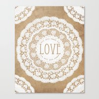 all you need is love Canvas Prints featuring All You Need is Love by Jenndalyn