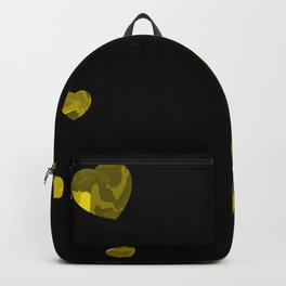 Chaotic Hearts Yellow Dapple Backpack