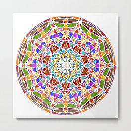 Mandala pattern colored Metal Print