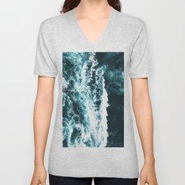 Sea Waves Dark Unisex V-Neck