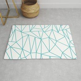 Geometric Cobweb (Teal & White Pattern) Rug