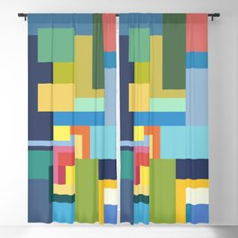 Color Cubes Blackout Curtain