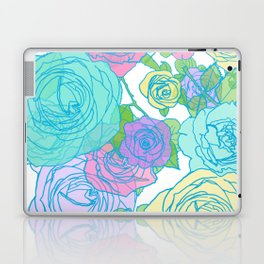 Pop Roses in Bright Preppy Colors Laptop & iPad Skin