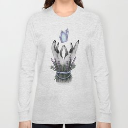 crystal hands colored Long Sleeve T-shirt