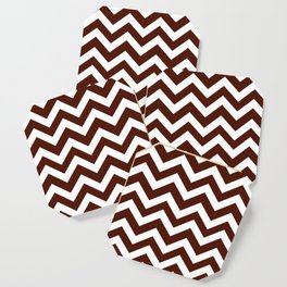 French puce - red color - Zigzag Chevron Pattern Coaster