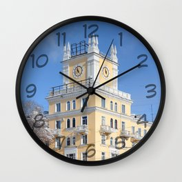 clock on the tower of the building Wall Clock