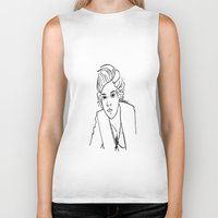 harry styles Biker Tanks featuring Harry Styles by Rosalia Mendoza
