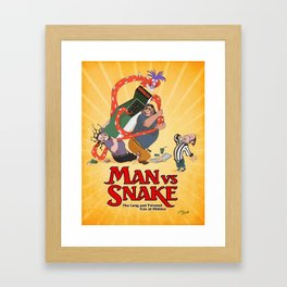 MAN VS SNAKE: The Long and Twisted Tale of Nibbler Framed Art Print