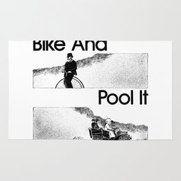 Bike And Pool It Rug