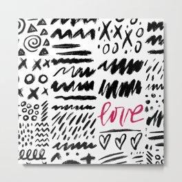 Love Scribbles Metal Print