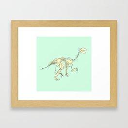 Pastel Iguanodon Framed Art Print