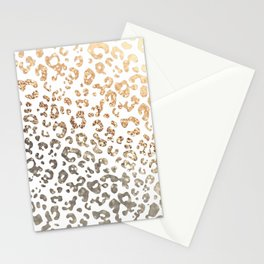 GOLD LEO Stationery Cards