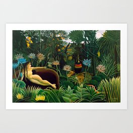 Henri Rousseau - The Dream , 1910 Art Print