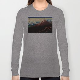Rainstorm Beneath the Summit (Sanka hakū or 山下白雨) Long Sleeve T-shirt
