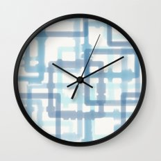 Abstract Winter Wall Clock