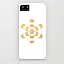 HEXAHEDRON CUBE sacred geometry iPhone Case