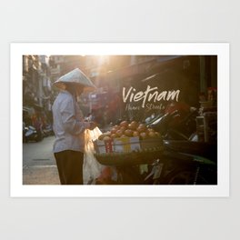 Vietnam street market Art Print