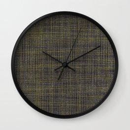 Black and Yellow Wall Clock