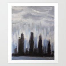 GLOOMY CITY Art Print