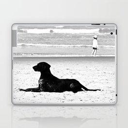 dog and child Laptop & iPad Skin