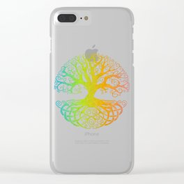 Tree of Life Rainbow Hue Clear iPhone Case