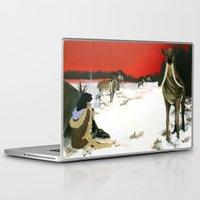 mythology Laptop & iPad Skins featuring  Inuit Mythology: Chapter 1, part 3 by Estúdio Marte
