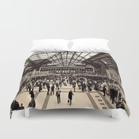 liverpool Duvet Covers featuring Liverpool Station by Roxana Lazăr