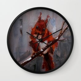 Afternoon Visitor Wall Clock