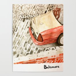 Taxicab in Baltimore Poster