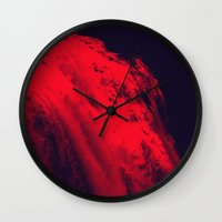 blood Wall Clocks featuring BLOOD by RUEI