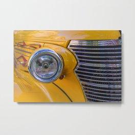 front of a 1940 chevrolet car Metal Print