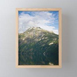 Fuming mountain Framed Mini Art Print