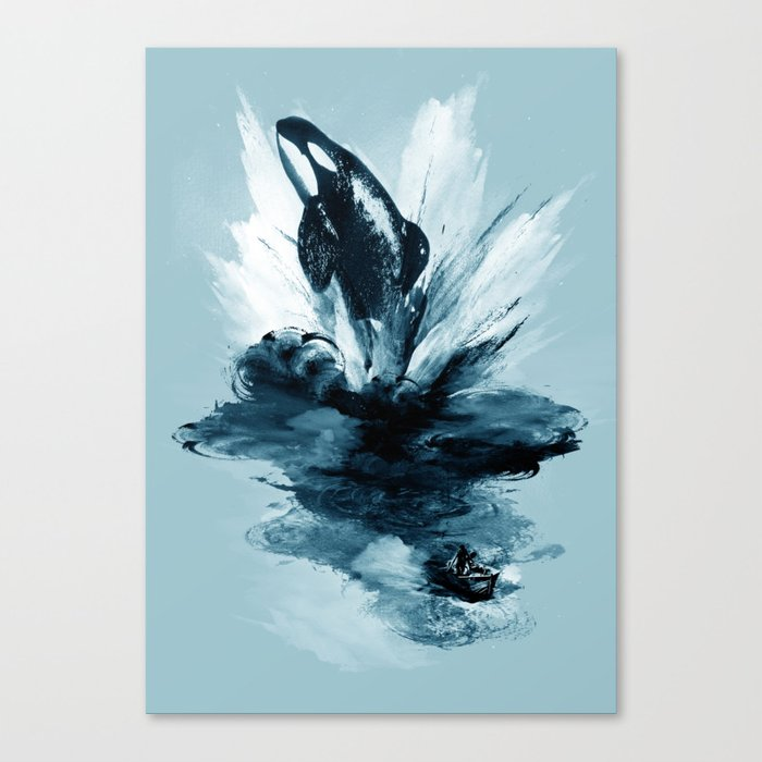 deep blue rising Canvas Print