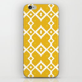 Yellow Chevron Diamond Pattern iPhone Skin