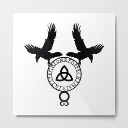 Norse Ravens - Celtic Knot Metal Print